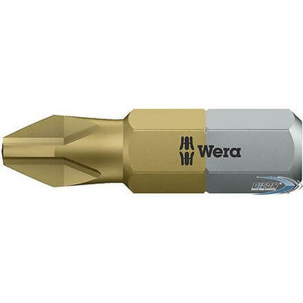 Biți pentru șuruburi Phillips Wera 851/1 TIN PH2 25mm
